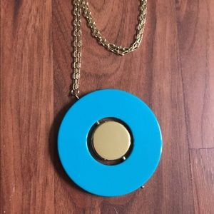 Kate Spade turquoise/gold spinner necklace